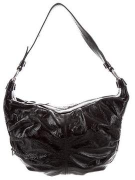 Hogan Patent Leather Hobo Bag