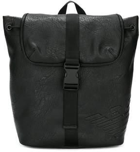 Emporio Armani Kids logo embossed backpack