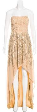 Alberto Makali Embellished Asymmetrical Gown w/ Tags