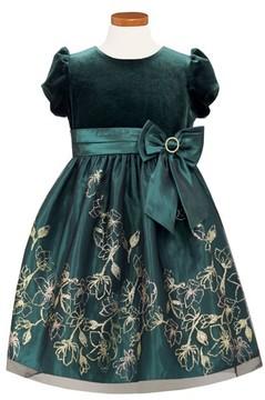 Sorbet Toddler Girl's Velvet Bodice Fit & Flare Dress