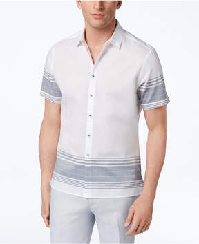 INC International Concepts I.n.c. Men's Striped Cotton Shirt, Created for Macy's