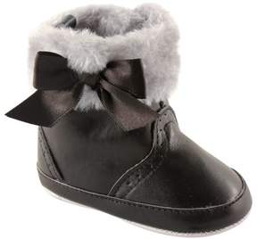 Luvable Friends Newborn Baby Girls Fur Trim Boots