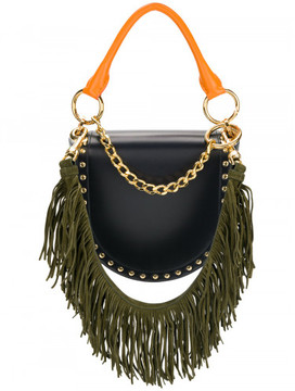 Sacai fringed Horse shoe bag