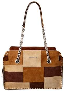 MICHAEL Michael Kors Astor Large Suede Satchel. - BROWN - STYLE