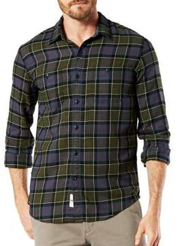 Dockers Plaid Cotton Casual Button-Down Shirt