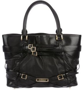 Burberry Bridle Medium Lynher Tote - BLACK - STYLE