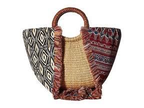 Sam Edelman Adira Straw Basket w/ Shoulder Scarf Strap Handbags