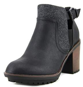 Rocket Dog Reese Women Round Toe Synthetic Black Ankle Boot.
