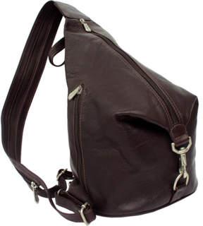 Piel Leather Three Zip Hobo Sling 9931
