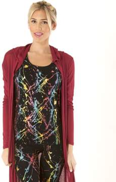 Electric Yoga Hooded Duster Cardigan.