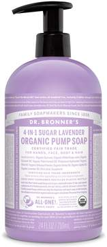 Dr. Bronner's Sugar Lavender Organic Pump Soap by 24oz Liquid Soap)