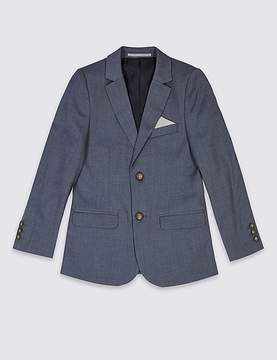 Marks and Spencer Notch Lapel Textured Blazer (3-14 Years)