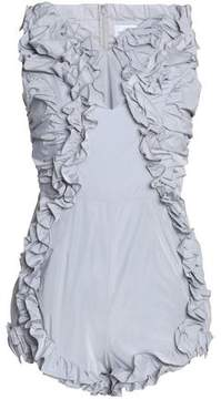 Alice McCall Stuck On You Ruffle-Trimmed Twill Playsuit