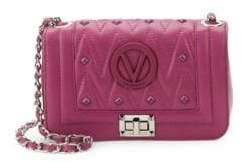 Mario Valentino Beatriz Studded Leather Crossbody Bag