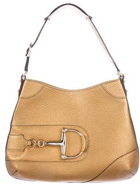 Gucci Leather Hasler Hobo - GOLD - STYLE