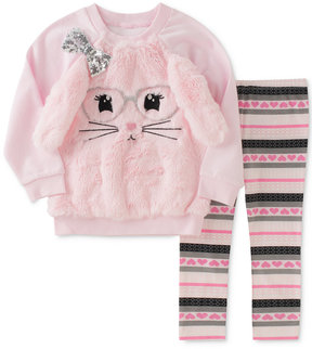 Kids Headquarters 2-Pc. Faux-Fur Sweatshirt & Leggings Set, Baby Girls (0-24 months)