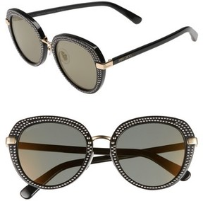 Jimmy Choo Women's Moris 52Mm Oversize Sunglasses - Black Gold