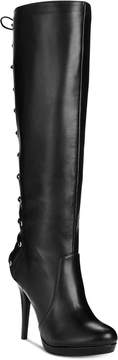 Thalia Sodi Lanee Wide-Width Wide-Calf Platform Lace-Up Dress Boots, Created for Macy's Women's Shoes