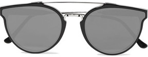 RetroSuperFuture Giaguaro Aviator-style Acetate And Silver-tone Mirrored Sunglasses - Black