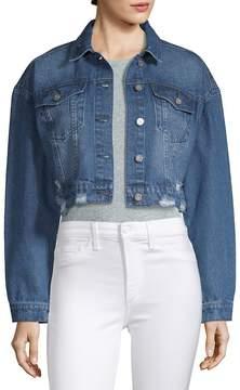 Bagatelle Women's Cropped Denim Jacket