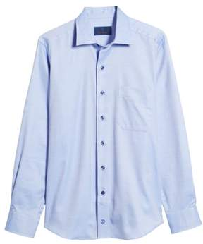 David Donahue Micro Diamond Regular Fit Sport Shirt