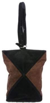 Diane von Furstenberg Bicolor Suede Bucket Bag