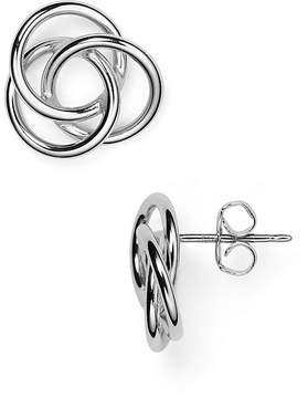 Bloomingdale's Sterling Silver Love Knot Earrings - 100% Exclusive