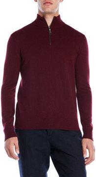Qi Mock Neck Cashmere Zip Sweater