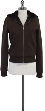 Juicy Couture Brown Fur Lined Hoodie