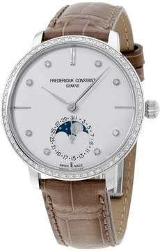Frederique Constant Slimline FC703SD3SD6 Stainless Steel Silver Dial 39mm Mens Watch