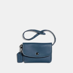 COACH Coach Card Pouch - DARK GUNMETAL/DENIM - STYLE
