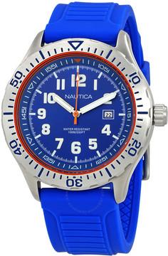 Nautica NSR 105 Blue Dial Men's Blue Silicone Watch