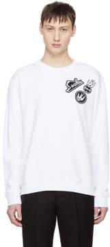 McQ White Skater Swallow Badge Sweatshirt