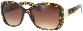 Kay Unger Tortoise Tyra Square Sunglasses