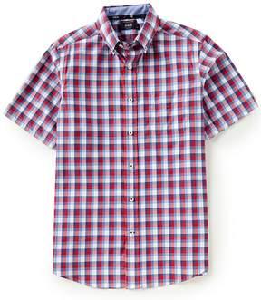 Daniel Cremieux Club 38 Check Performance Twill Stretch Short-Sleeve Woven Shirt