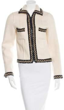 Chanel Bouclé-Trimmed Wool & Alpaca Jacket