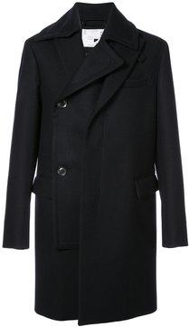 Sacai double breasted wrap coat