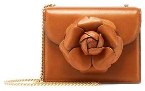 Oscar de la Renta Cognac Leather Mini TRO Bag