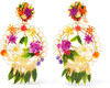 Mercedes Salazar - Fiesta Gold-plated Resin Clip Earrings - Pink