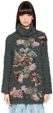 Antonio Marras Embroidered & Intarsia Knit Turtleneck