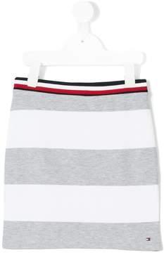 Tommy Hilfiger Junior striped jersey skirt
