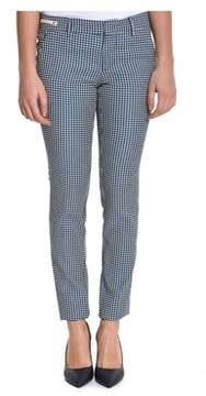 Berwich Women's Blue Acrylic Pants.