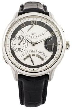 Maurice Lacroix Masterpiece Calendar Retrograde GMT Stainless Steel & Leather 46mm Watch