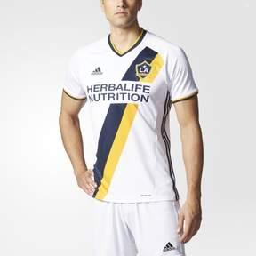 adidas MLS LA Galaxy Men's Replica Short Sleeve Team Jersey, White, Small