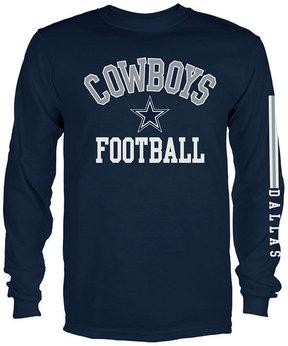 Authentic Nfl Apparel Men's Dallas Cowboys Spread Formation Long Sleeve T-Shirt