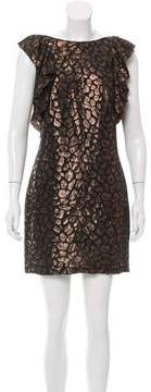 Camilla And Marc Silk Metallic-Accented Dress