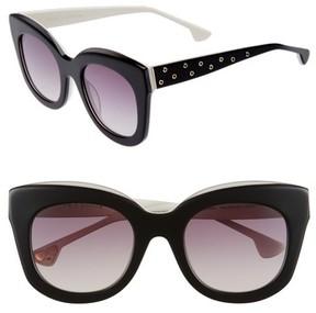 Alice + Olivia Women's Downing 51Mm Cat Eye Sunglasses - Black/ White