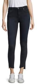 AG Jeans Raw Cut Slanted Step-Hem Ankle Jeans