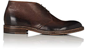 Barneys New York MEN'S WASHED LEATHER CHUKKA BOOTS
