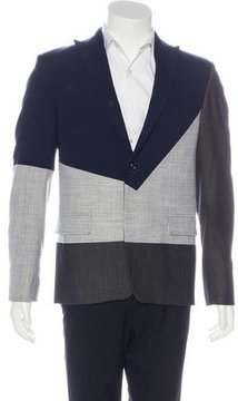 Pyer Moss Colorblock Peak-Lapel Blazer